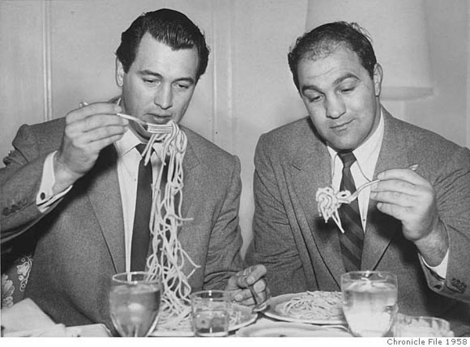 Rock Hudson with Rocky Marciano