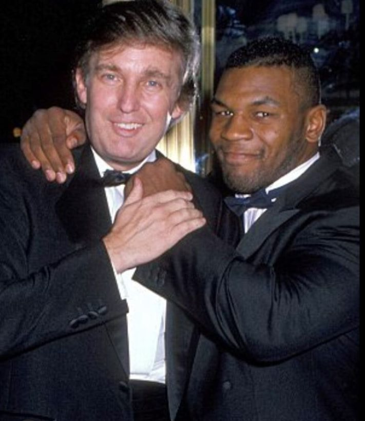 Donald Trump and Mike Tyson in 1986