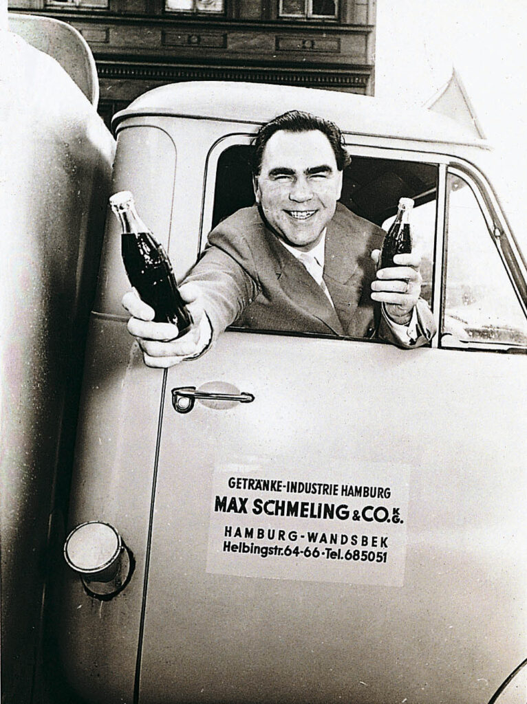 Former Heavyweight Champion Max Schmeling delivering Coca-Cola in the late 1940s.