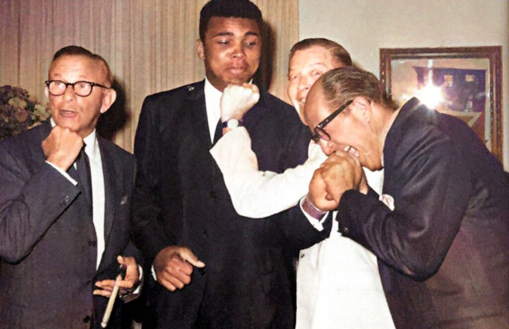Muhammad Ali with George Burns, Milton Berle, and Phil Silvers