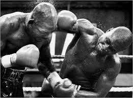 Iran Barkley and James Toney in action.