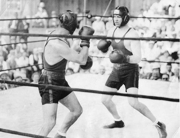 Jack Dempsey in training