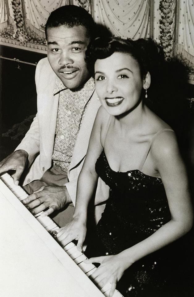 Joe Louis with singer Lena Horne