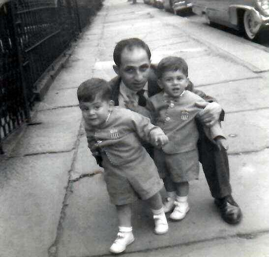 Hall of Fame Founder of The USA Boxing News Joseph Rinaldi and twin sons John and Alex Rinaldi.