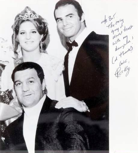 Rocky Marciano with Burt Reynolds and Rocky's daughter  Mary Anne