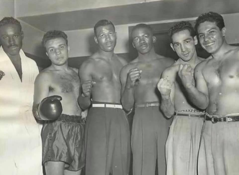 Lineup of legends - Jake LaMotta, Sugar Ray Robinson, Ike Williams and Willie Pep in the 1940s.