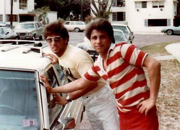 John and Gerard Rinaldi in Florida in 1982.