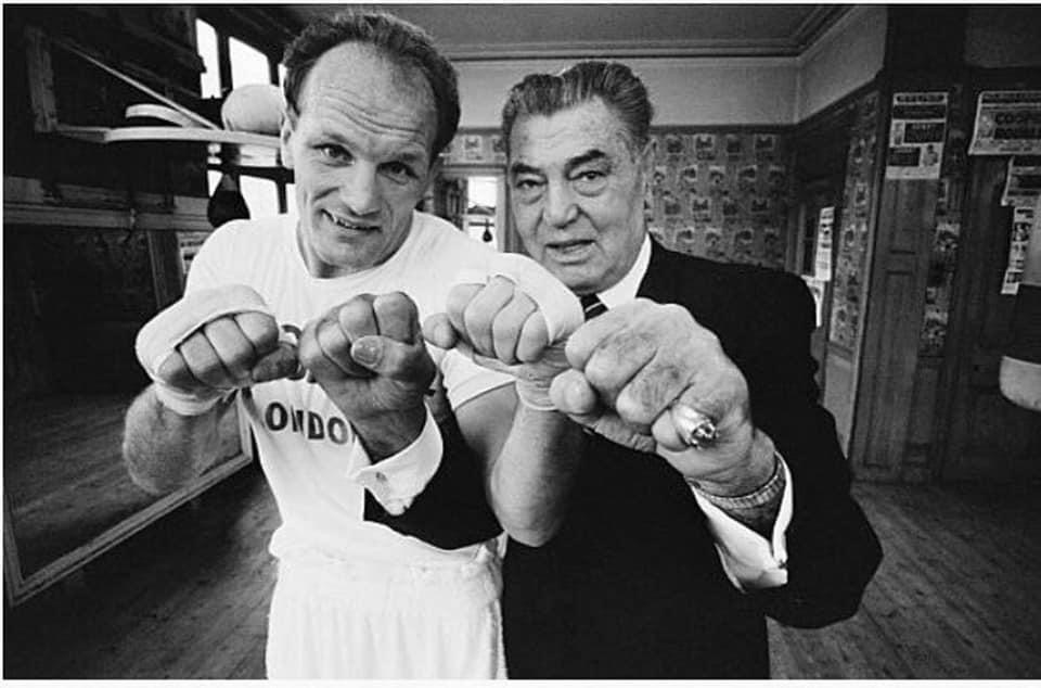 Henry Cooper with Jack Dempsey