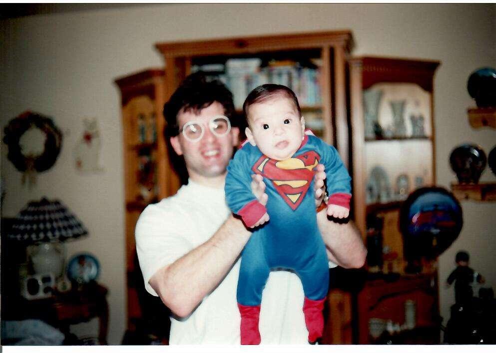 USA Boxing News Publisher John Rinaldi with a young Joseph Rinaldi