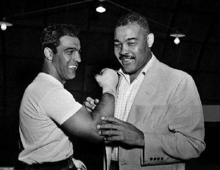 Rocky Marciano and Joe Louis in 1953.