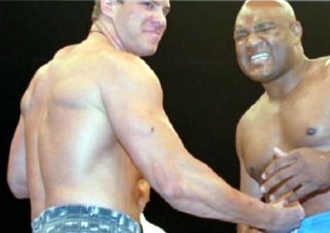 Tommy Morrison and George Foreman.