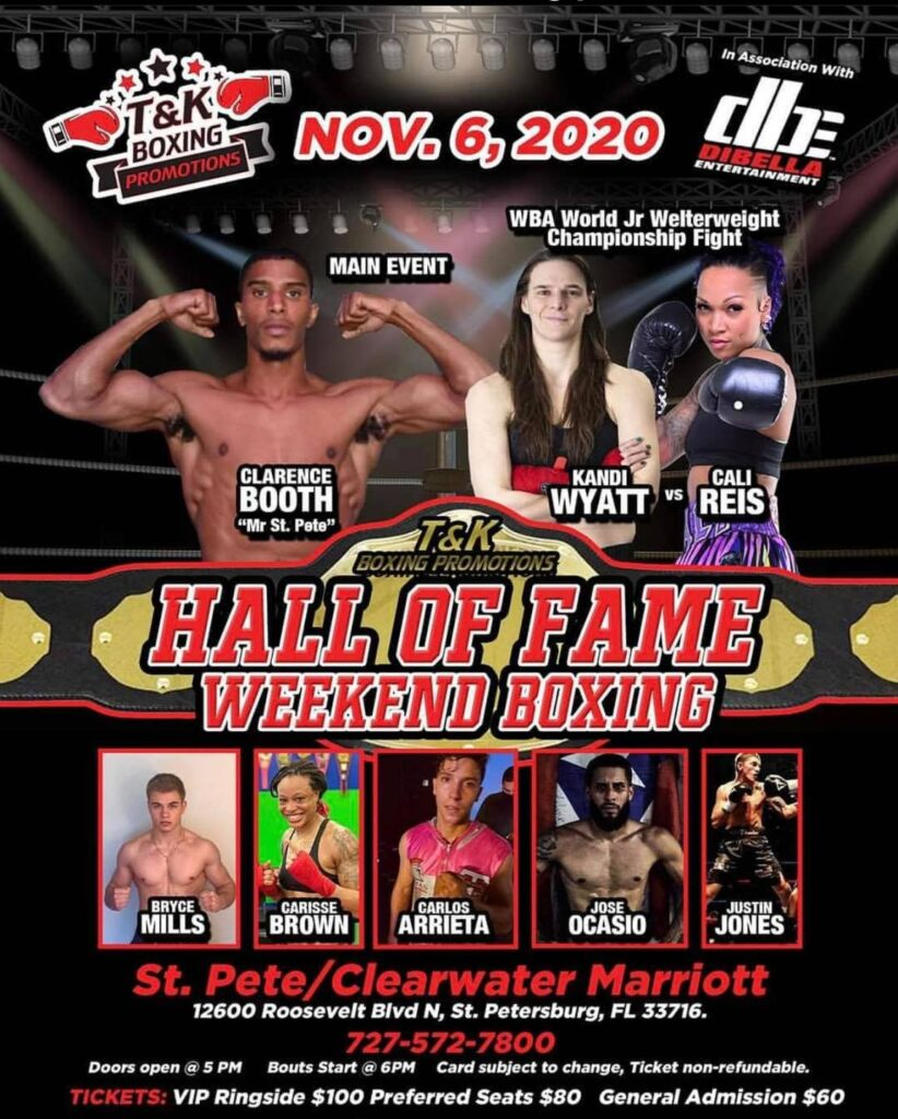 Championship Fight card held at the 2020 FLBHOF Induction Weekend.