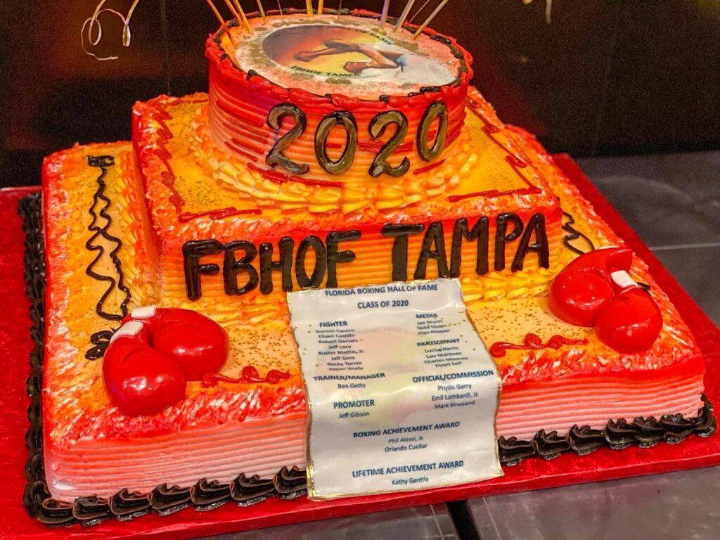 THE FLBHOF 2020 INDUCTEE CAKE.