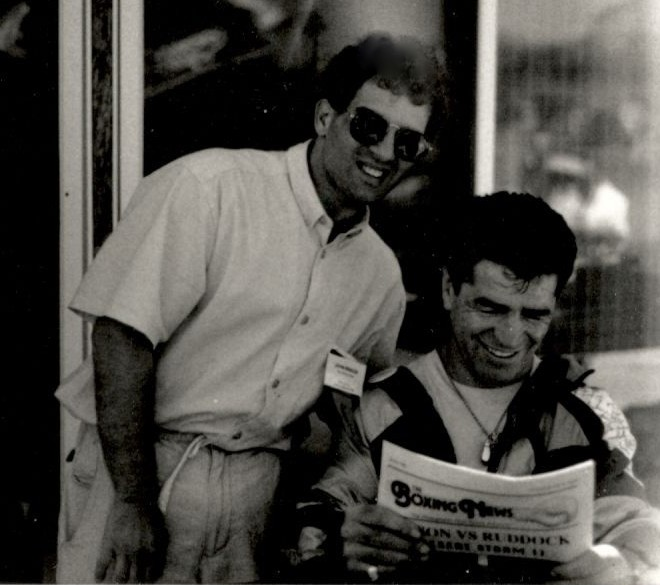 Former middleweight king Vito Antuofermo with The USA Boxing News and John Rinaldi.