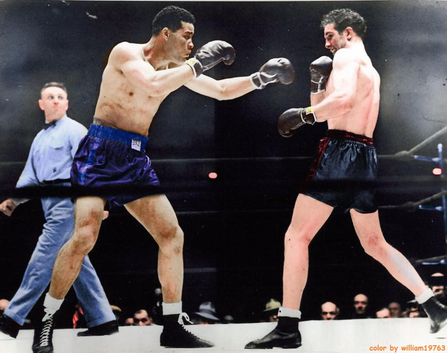 Joe Louis (L) vs. Billy Conn (R)