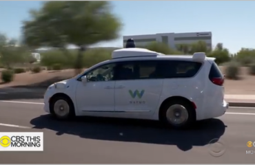 Waymo autonomous rideshare van