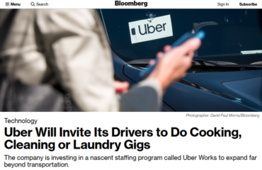 Uber drivers working for Uber Works