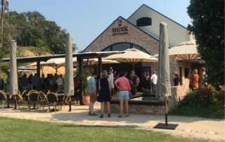 Husk's recently completed distillery and cellar door takes in stunning vista of rural views towards the Tweed River.