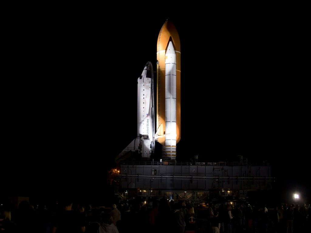 STS 133 Rollout
