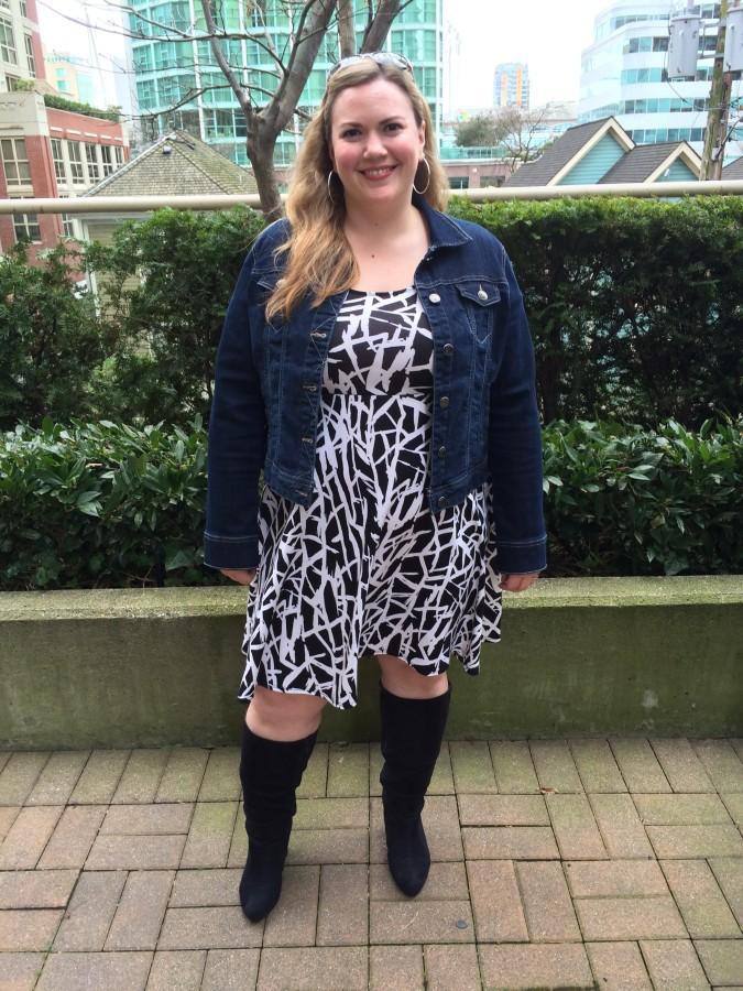 Dress - Addition Elle Jacket - Ricki's Boots - Lane Bryant