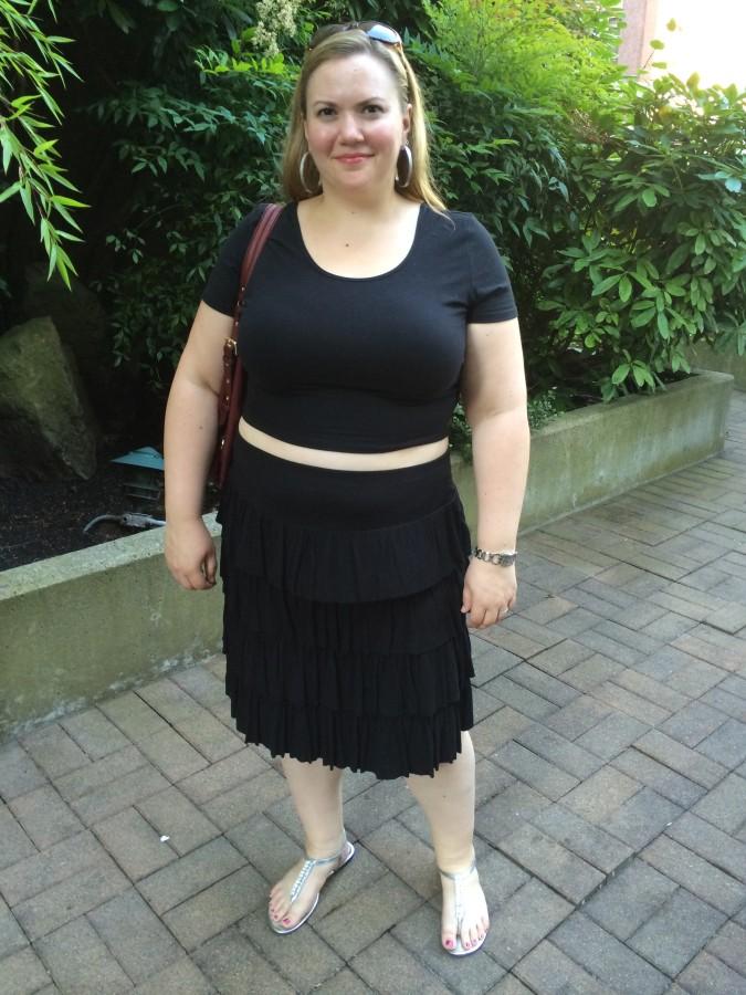 Top - Forever 21 Skirt - Style & Co. via The Bay Shoes - Payless Bag - Michael Kors via Macy's