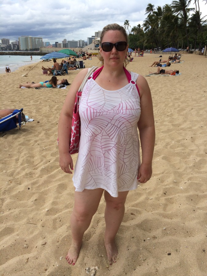 Cover up - J. Valdi via The Bay Swimsuit - Monif C.  Beach Bag - Who knows?