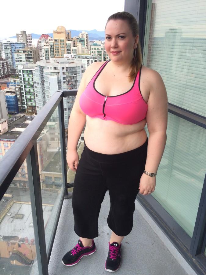 Sport bra - Victoria's Secret Capri's - Nola via Addition Elle Shoes - Under Armour via Champs