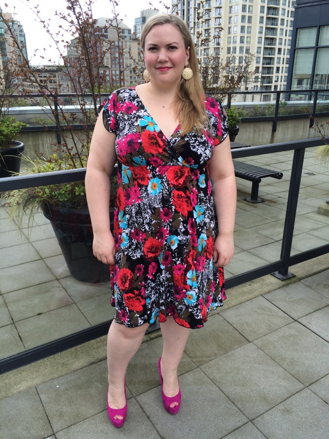 Dress - Monarchy via Bodacious Shoes - Jessica Simpson via The Bay