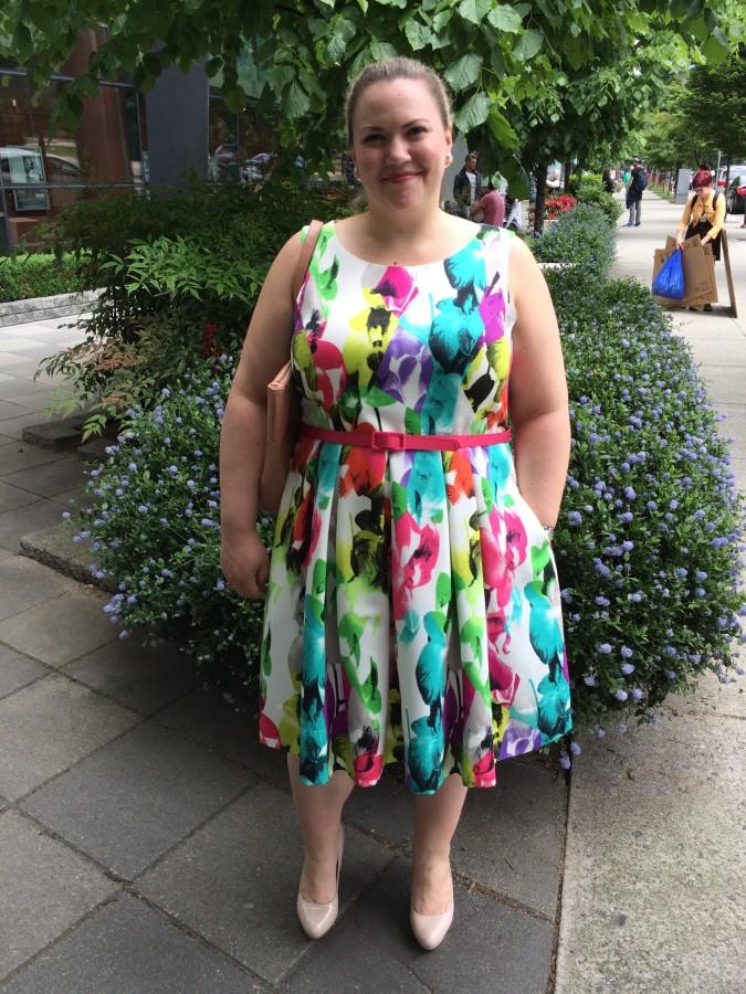 Dress - Eliza J via Nordstrom Bag - Matt & Nat Shoes - Aldo
