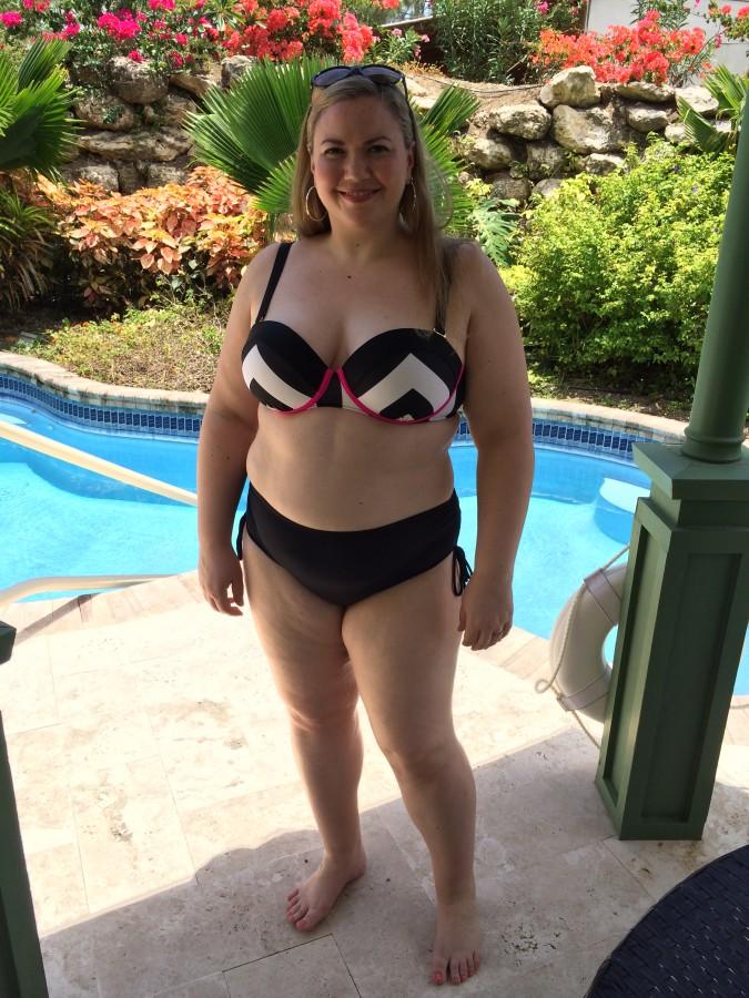 Bikini top - GabiFresh via Swimsuits for All Bikini bottom - Beach House via Swimco