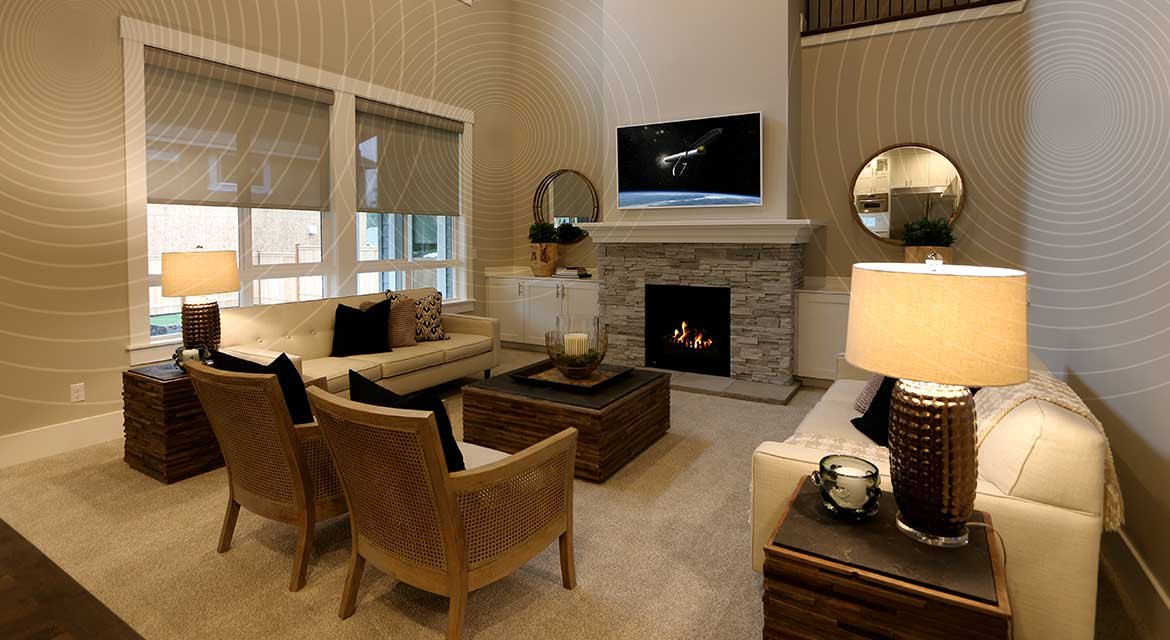 Smart Home Living Room American Classic Homes