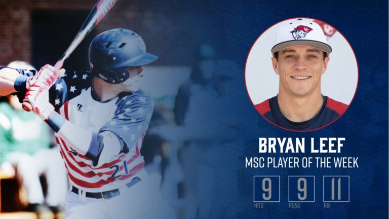 Bryan Leef Earns MSC Player of the Week