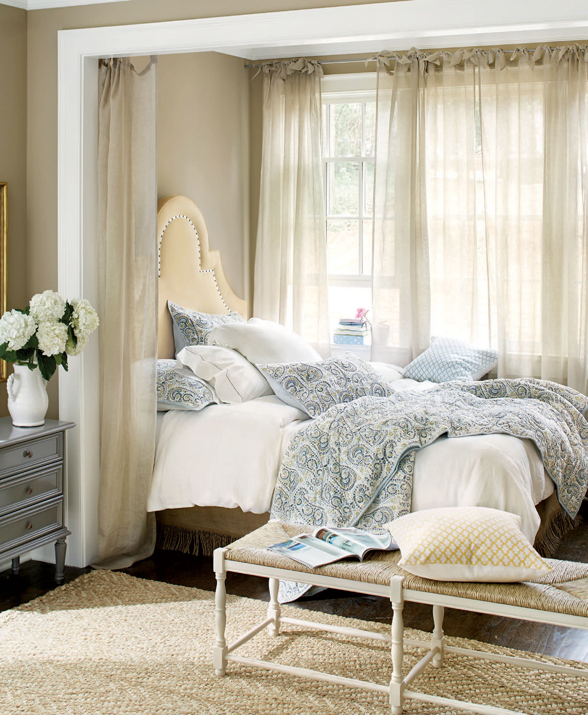 Navy and Blue Bedroom
