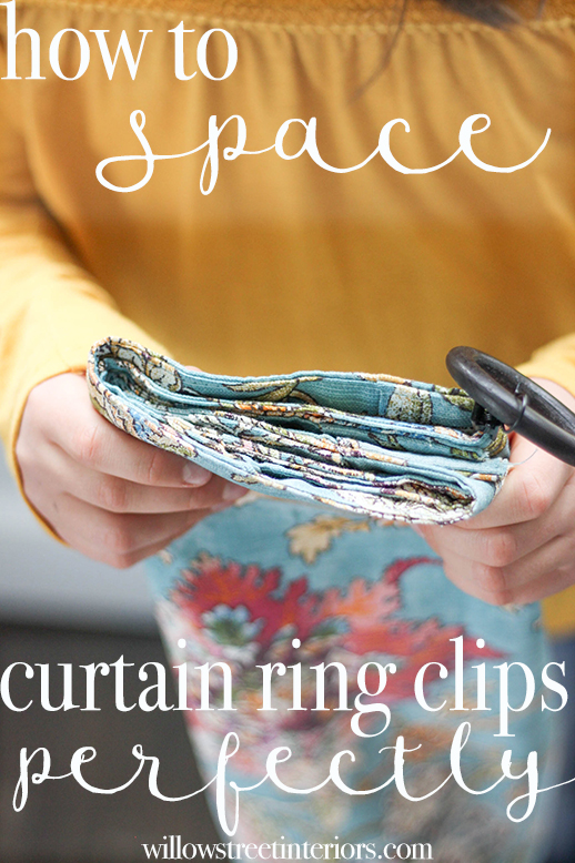spacing curtain clips perfects