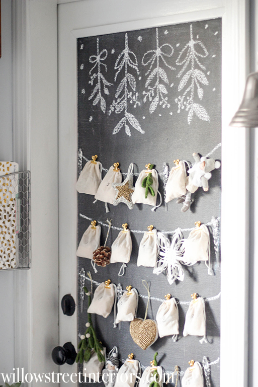 Sweet and cozy advent calendar idea from willow street interiors