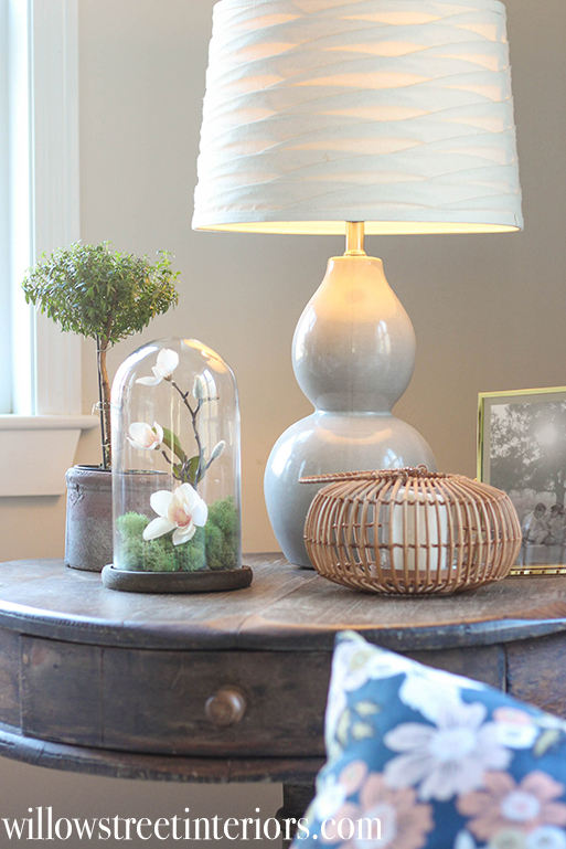 how to style a glass cloche or bell jar