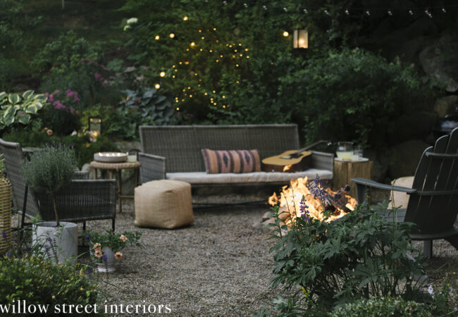 Effortless and Earthy Outdoor Patio Decorating