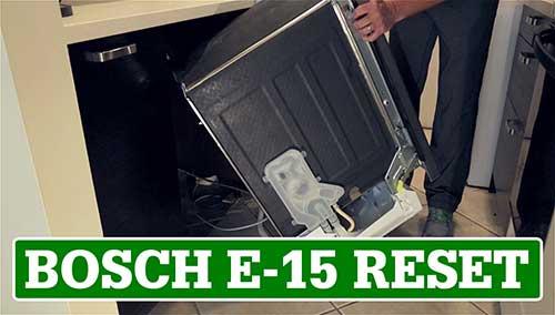How to reset the Bosch E-15 Error Code