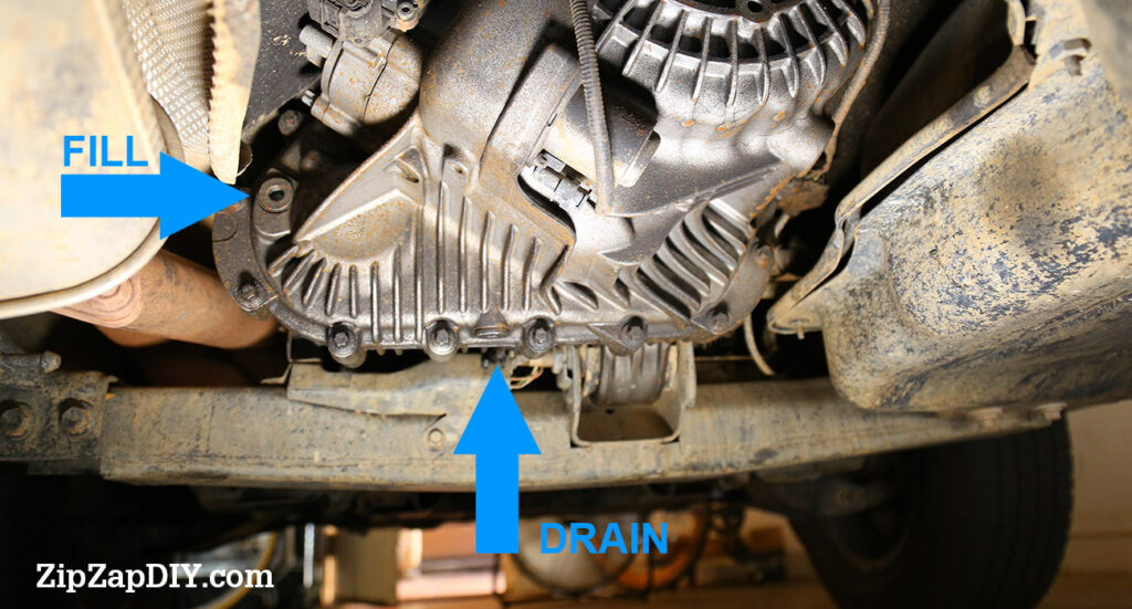 LR3 and Discovery 3 Transfer Case Drain and Fill hole locations