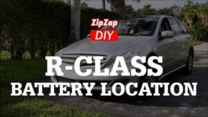 Mercedes R-Class Battery Location, Jump Start | VIDEO