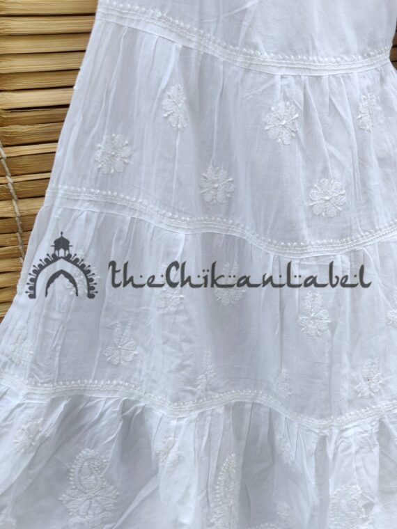Thechikanlabel Cotton White Garara 02