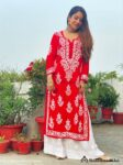 Red Modal cotton Kurti 01