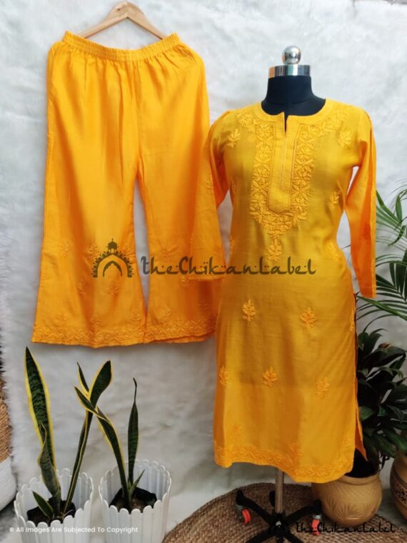 Perky Megs Yellow Chanderi Salwar Suit 06