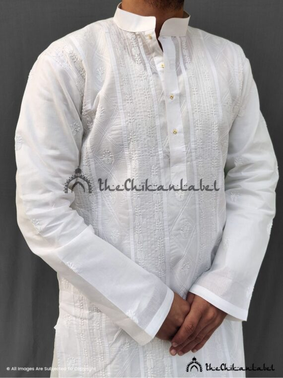 White Mens Kurta 02
