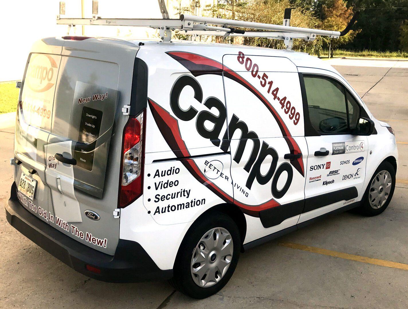 Fleet Graphics Van Logo Wrap Campo SEI HQ