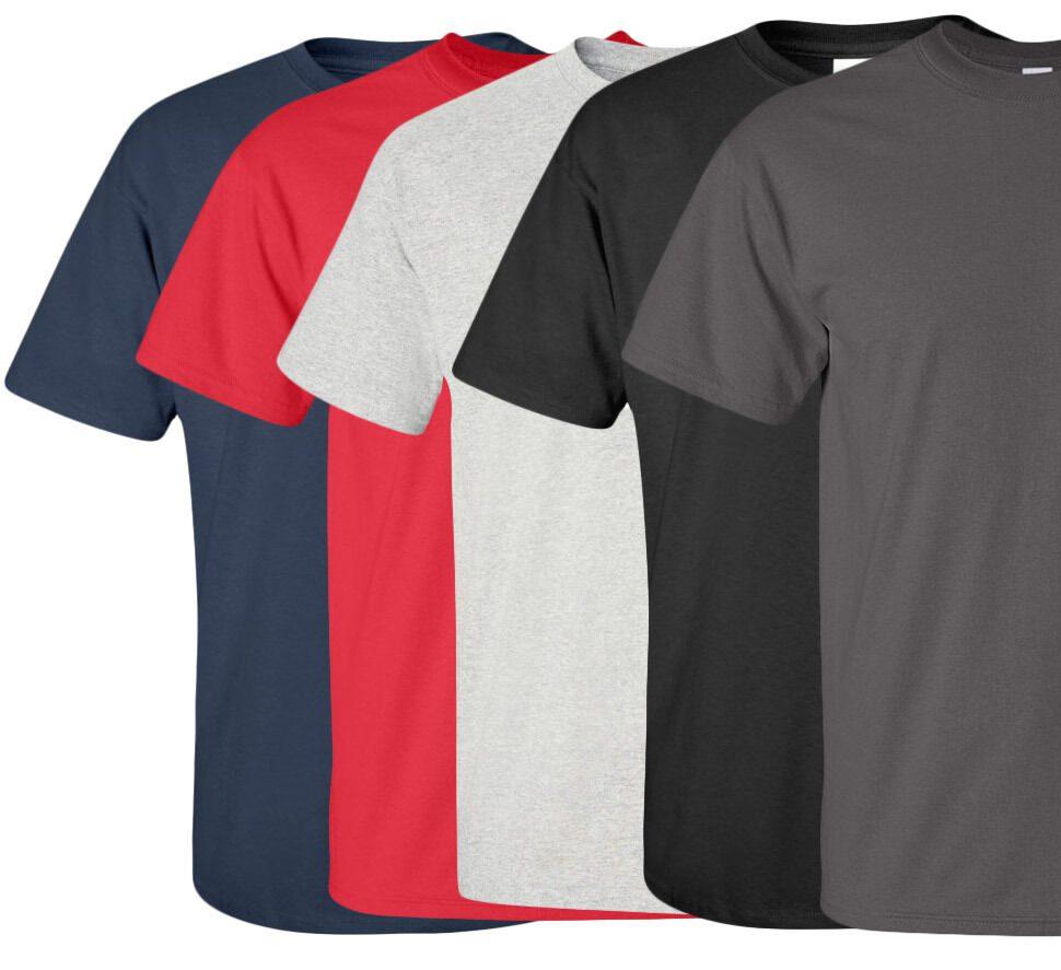 Navy, Red, Light Gray, Black, Dark Gray Tee Shirts