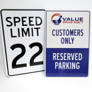 Speed Limit and Value Dug Mart Aliminum Signs