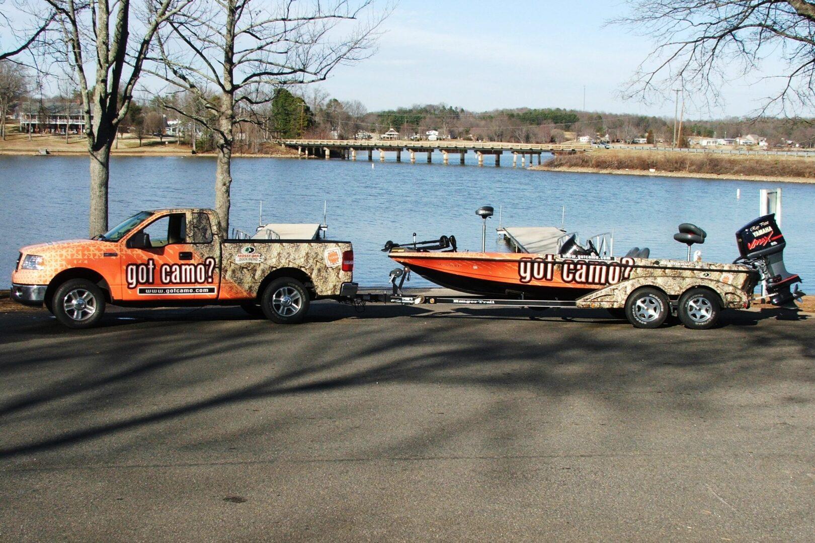 SEI HQ Got Camo? Vehicle Graphics Truck Wrap Boat Wrap Slidell, LA