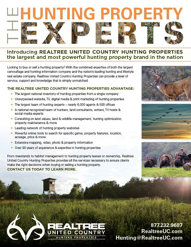 The Hunting Experts Flier REaltree United Country