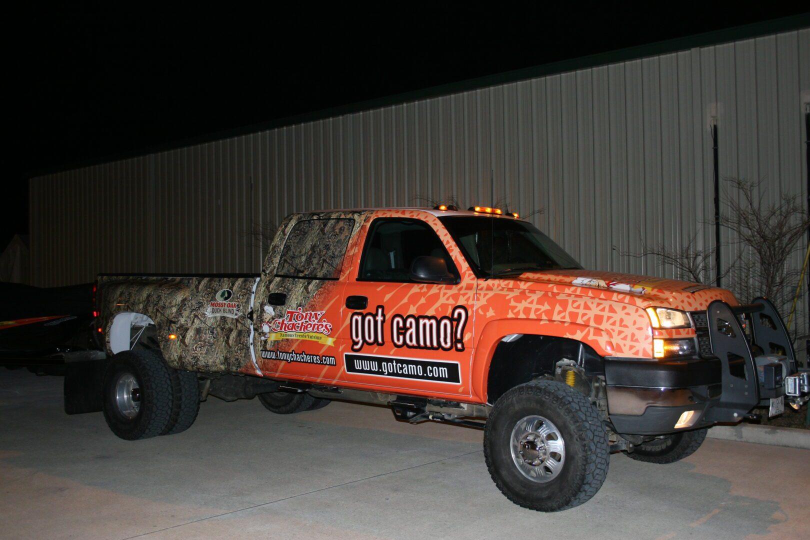 Fleet Graphics Slidell, LA Trailer Wraps SEI HQ Got Camo Truck